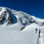 Descending toward the Glacier du Geant (Tour Ronde in background)