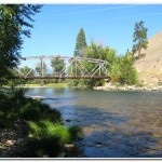 The bridge at Darby, Montana. At high water I had 3 feet of clearance!