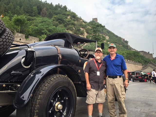 Tim Taylor and Ike Trafton next to the Great Wall