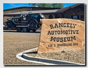 Sign at Rangely Automotive Museum in Colorado.