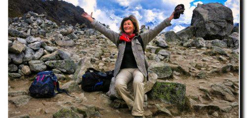 Katherine at Salkantay Pass 15200 feet